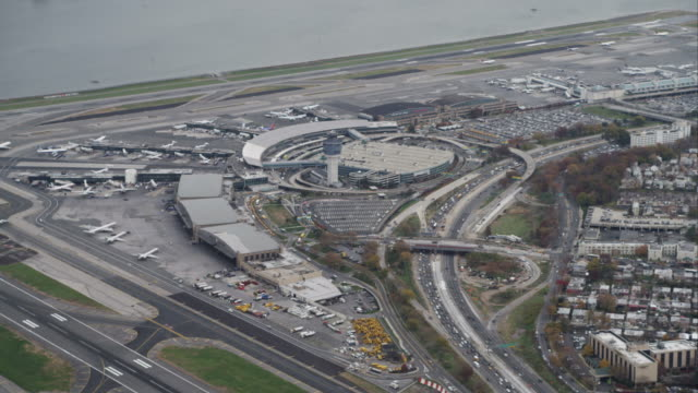 Flying over LaGuardia Airport, New York City. Shot in November 2011.