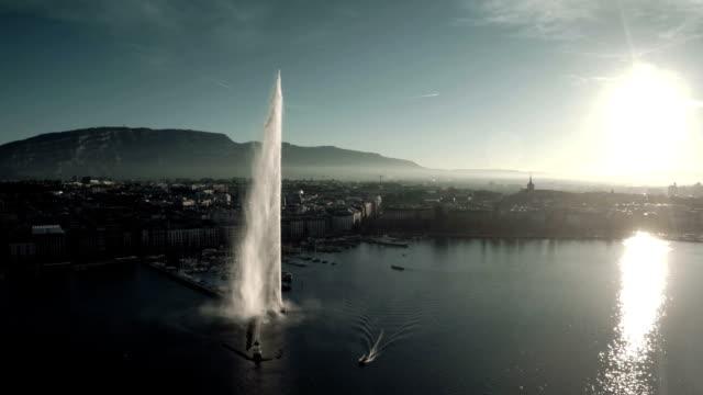 Fliegen über den Genfer See