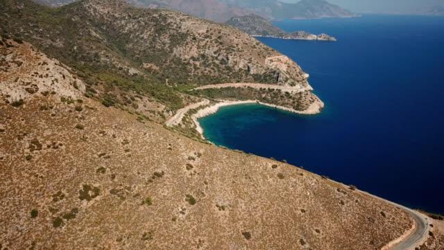 flying over mediterranean sea - cyprus island stock videos & royalty-free footage