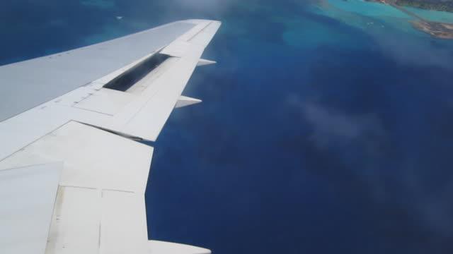 flying over oahu, hawaii - honolulu stock videos and b-roll footage