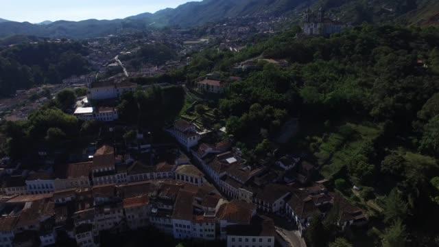 flying over ouro preto in minas gerais, brazil - preto stock videos & royalty-free footage