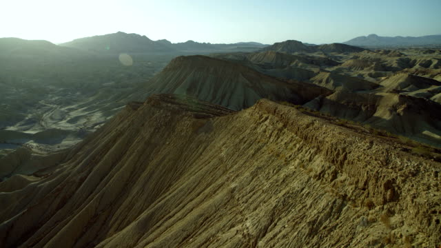 flying over ridges in anza-borrego park - mesa stock videos and b-roll footage