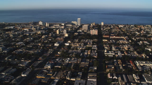Flying over Santa Monica with Pacific in the distance. Shot in 2010.