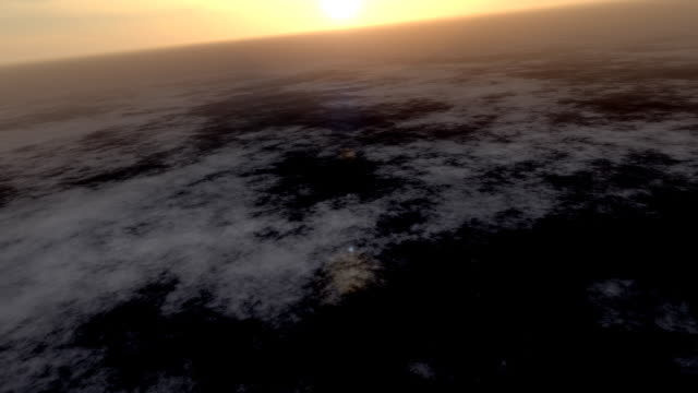 Flying over the clouds 3D