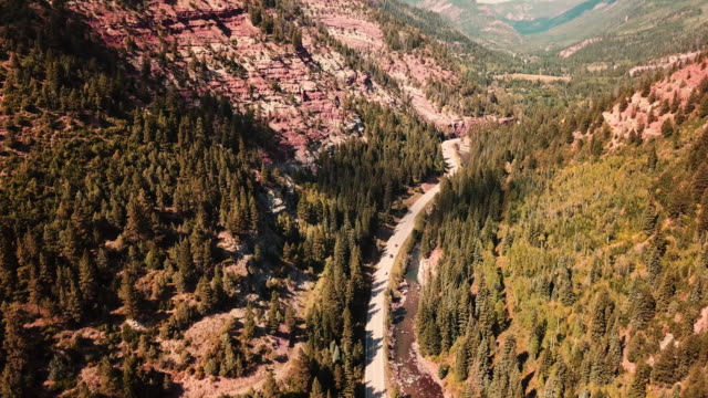 flying over the colorad roads - colorado stock videos & royalty-free footage