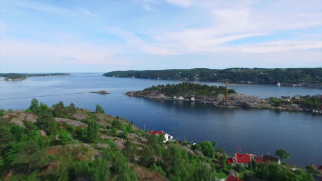 flying over the kragero fjords - telemark stock videos and b-roll footage