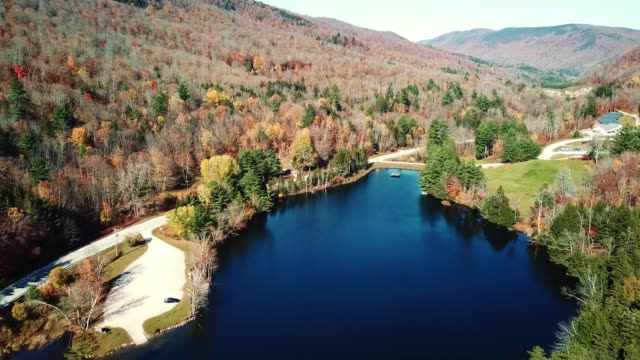 flying over the new hampshire lake - new hampshire stock videos & royalty-free footage