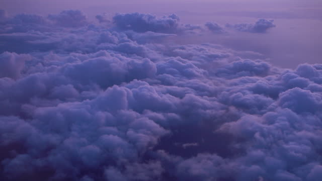 flying over the purple sky cloud - above stock videos & royalty-free footage
