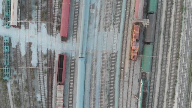 flying over trains and railways - imperfection stock videos and b-roll footage