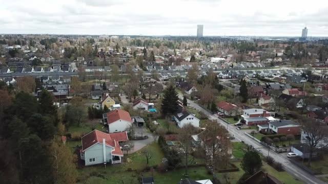 flying over villa area - suburb stock videos & royalty-free footage