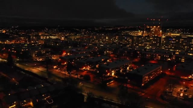flying over villa area, winter sunset - air vehicle stock videos & royalty-free footage