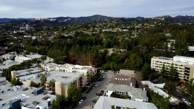 flying over westwood california - westwood neighborhood los angeles stock videos & royalty-free footage
