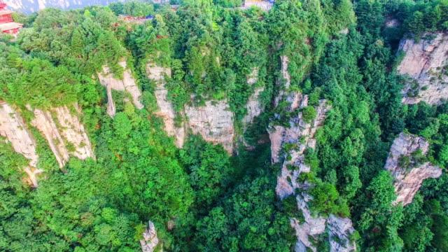 Flug über nationale Waldpark Zhangjiajie in China