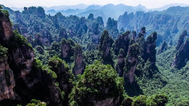 Flug über Zhangjiajie National Park in China