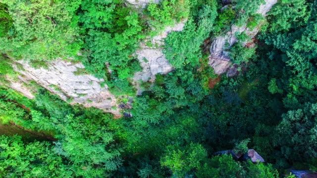 flying over zhangjiajie national park in china - steep stock videos and b-roll footage
