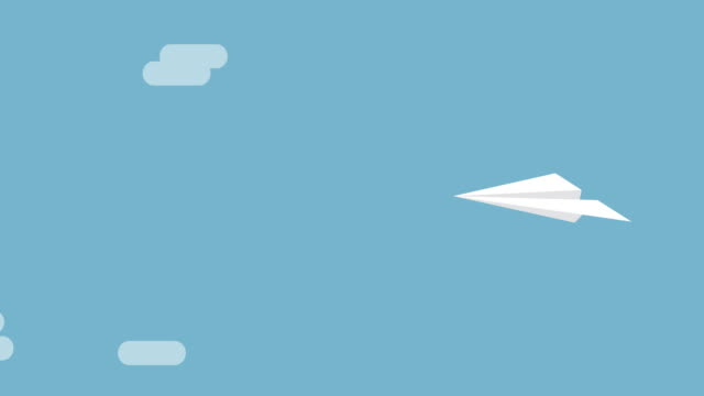 vídeos y material grabado en eventos de stock de avión volando papel - avión de papel