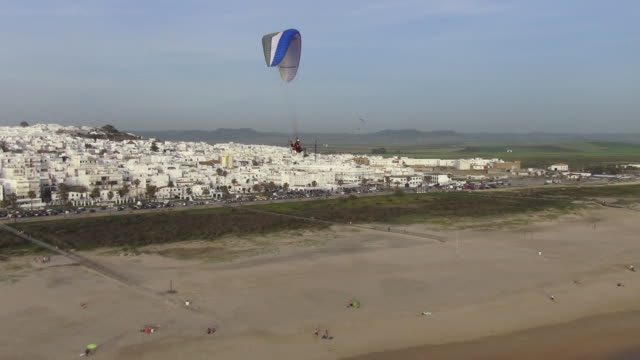 flying paragliding - cádiz stock videos and b-roll footage