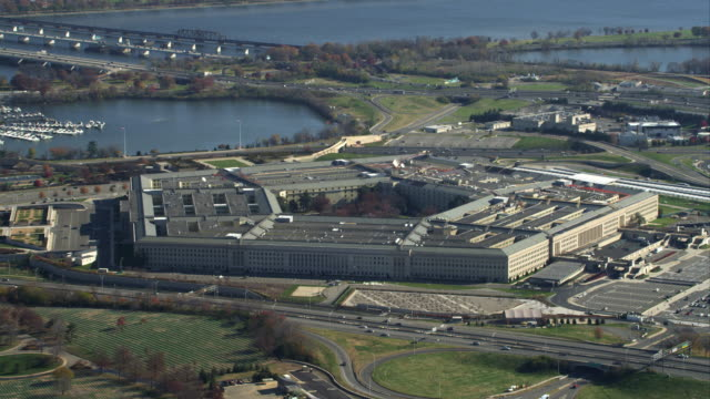 flying past the pentagon. shot in november 2011. - the pentagon stock videos & royalty-free footage