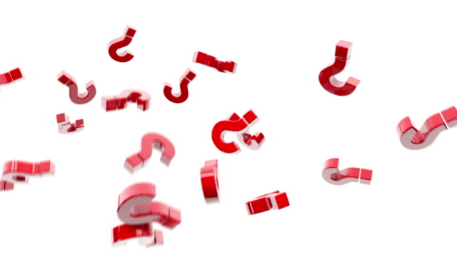 flying question marks animation - red (full hd) - question mark stock videos & royalty-free footage