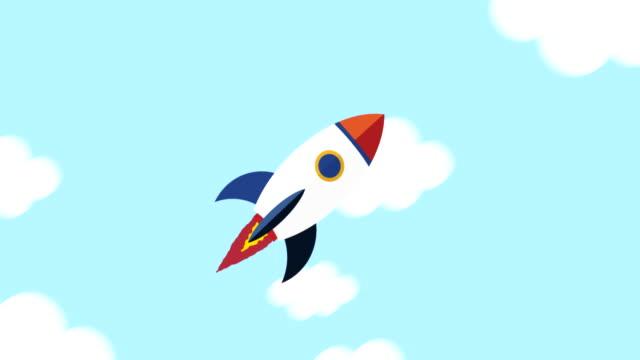 flying rocket seamless loop - missile stock videos & royalty-free footage