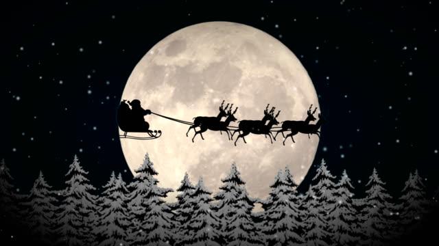 フライング・サンタクロース - クリスマスカード点の映像素材/bロール