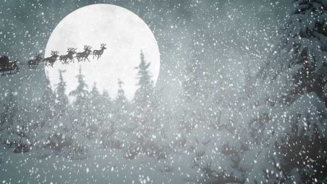 flying santa claus - north pole stock videos & royalty-free footage