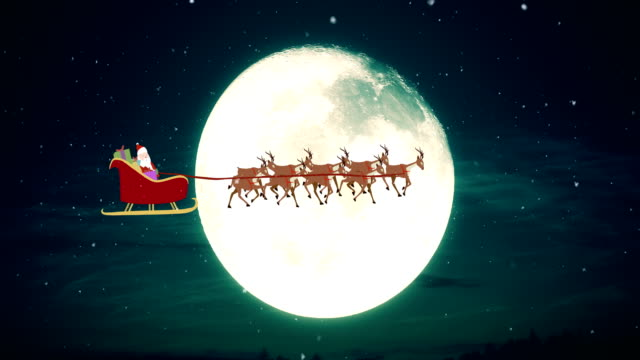flying santa claus - sledge stock videos & royalty-free footage