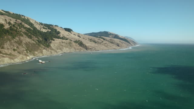 Flying south along California's Lost Coast.