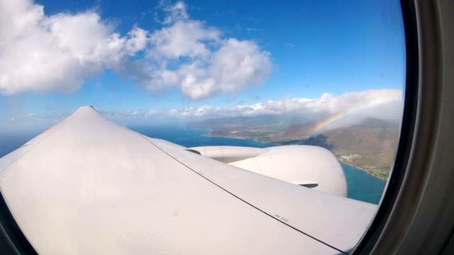 flying though the pacific ocean - honolulu stock videos and b-roll footage