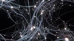 Flying Through A Complex Network (Dark) - Loop