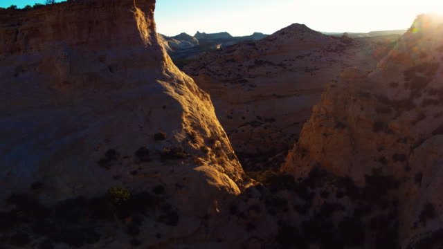 flying through canyons in utah - san rafael swell stock videos and b-roll footage
