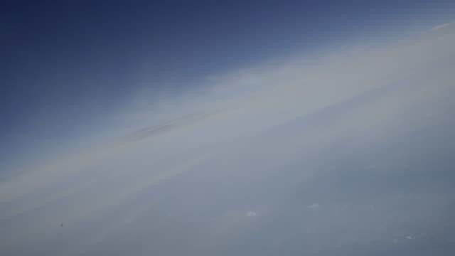 vidéos et rushes de voler à travers les nuages de cirrus (cockpit pov shot) - air vehicle