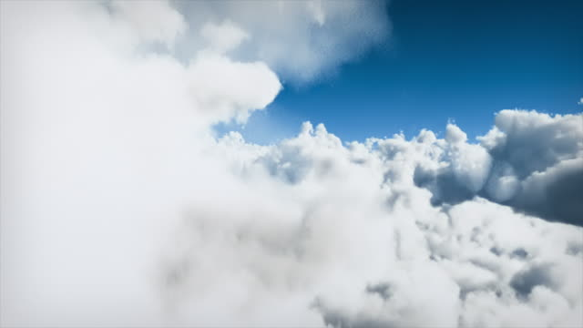 Flying through clouds - loopable