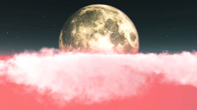flying through clouds toward moon - afterlife stock videos and b-roll footage