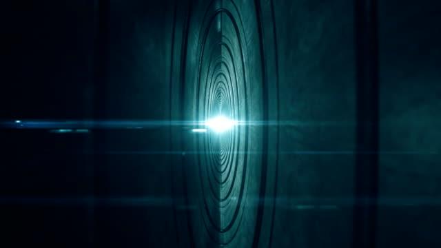 Fliegen durch futuristische tunnel.   Nahtlose loop