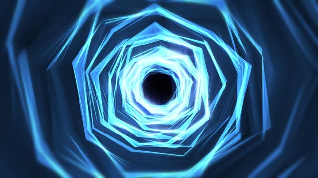 flying through glowing rotating neon lights creating a tunnel, blue red pink spectrum, fluorescent ultraviolet light, modern colorful lighting, loopable 4k animation, space vortex or wormhole or time, high speed tunnel, black hole digital space, wire - broadcasting stock videos & royalty-free footage