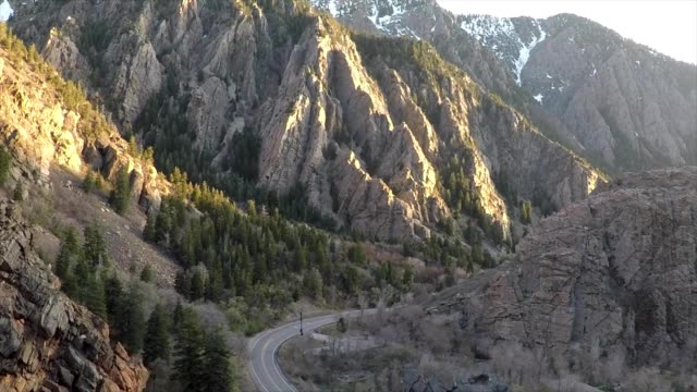 flying through provo canyon at sunset - provo stock videos & royalty-free footage