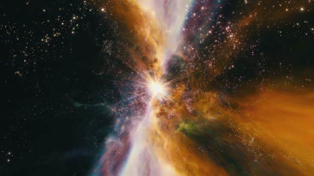 vídeos y material grabado en eventos de stock de flying through star fields and galaxies in space (loop). - supernova