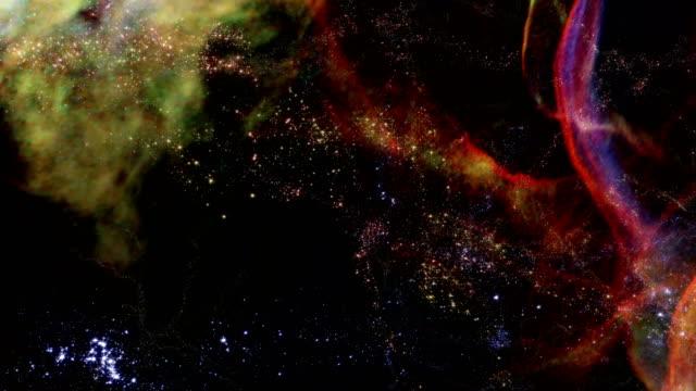 flying through star fields in deep space - 宇宙・天文点の映像素材/bロール