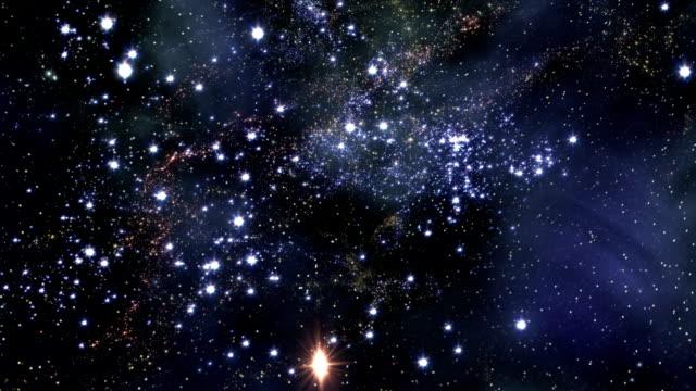 Flying Through Star Fields In Space (Loop).