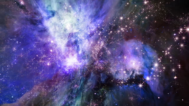 Flying Through Star Fields In Space