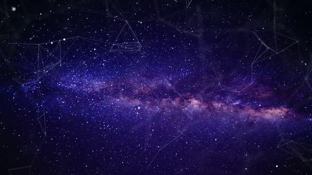 vidéos et rushes de 4k volant à travers les étoiles et la nébuleuse (loopable) - surexposition effet visuel