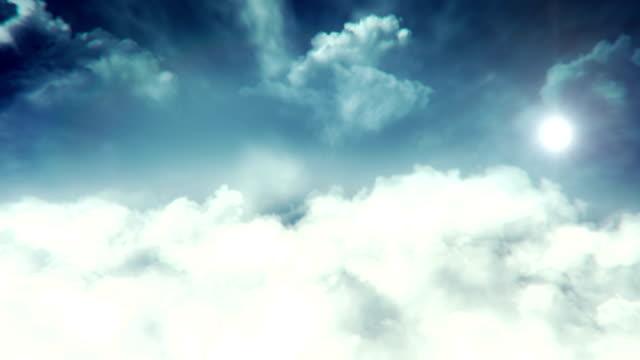 Flying Through Sunny Sky - Loop