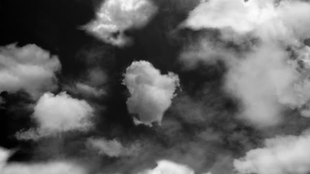 flying through the clouds bw - grayscale stock videos and b-roll footage