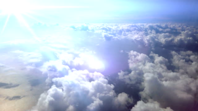 Flying through the Clouds. HD