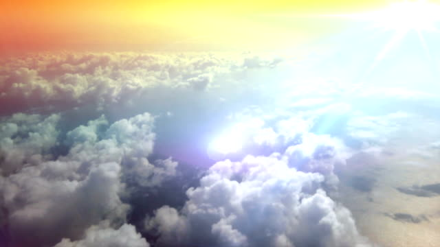 flying through the clouds. hd - soft cloud sky stock videos & royalty-free footage