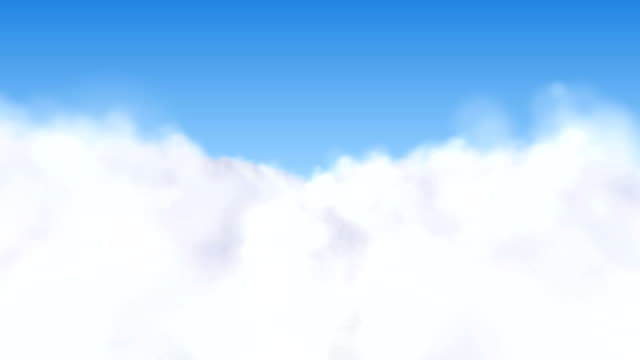 Fliegen über den Wolken