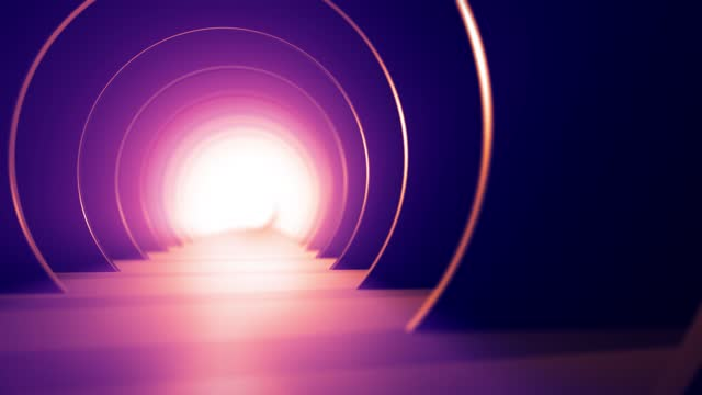 flying through the futuristic tunnel with moving lights. abstract science fiction 3d animation. the concept of illuminated corridor, interior design, spaceship, science, lab, technology, science, architecture, industry - gate stock videos & royalty-free footage