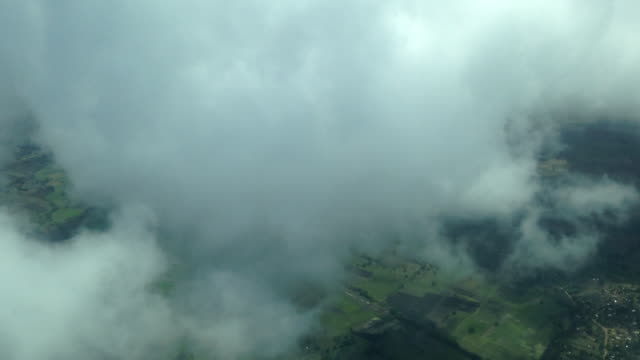 Flying Thru Clouds, Tanzania Landscape Passing Below
