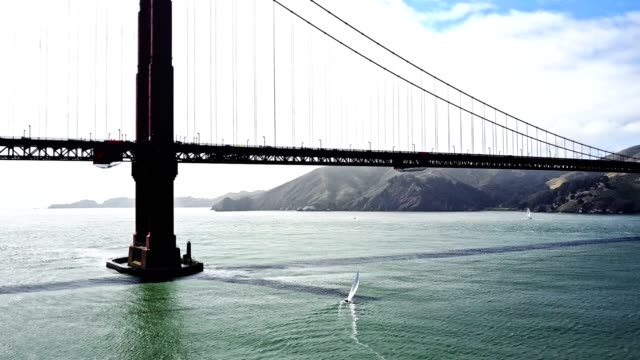 flying to the golden gate bridge in san francisco - san francisco bay stock videos & royalty-free footage